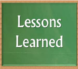 051915 lessons learned